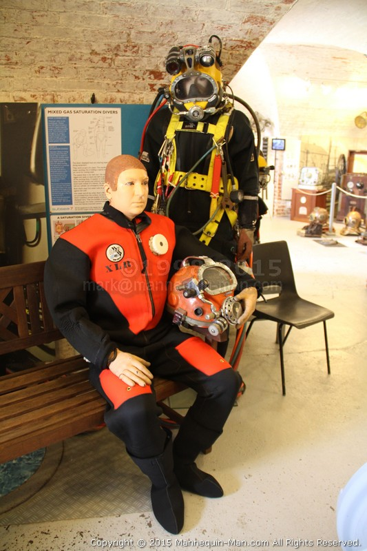 Spent the day as a mannequin wearing a hot water diving suit at the Diving Museum in Gosport - The Diving Museum Living Mannequin