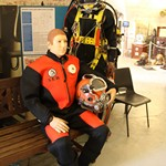 Spent the day as a mannequin wearing a hot water diving suit at the Diving Museum in Gosport