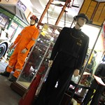 mannequin-man performming as a Museum Dummy: Exhibit showing Coverall used by USAR Search and Rescue teams at the Essex Fire Museum for Essex Fire Museum on 14/08/2018