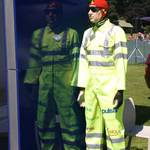 mannequin-man performming as a Crash Test Dummy: Crash Test Dummy for Hapstead Volvo at Horsham Motor Show 2005 for Hapstead Volvo on 18/06/2005