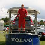 mannequin-man performming as a Crash Test Dummy: Crash Test Dummy for Hapstead Volvo at Horsham Motor Show 2004 for Hapstead Volvo on 19/06/2004