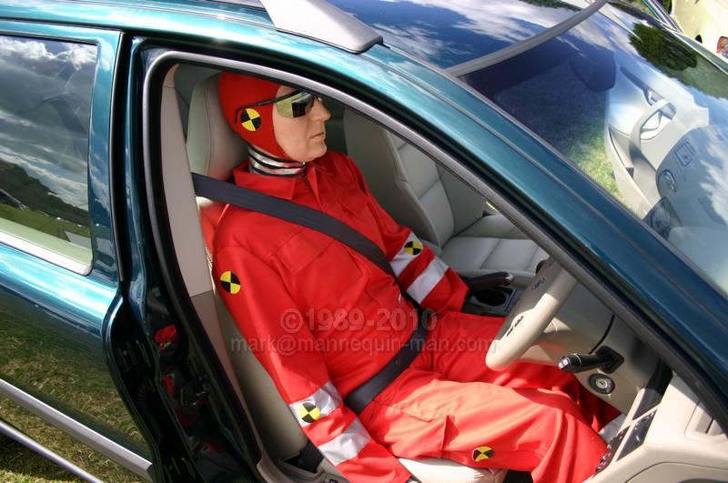 horsham motorshow volvo crash test dummy mannequin the living mannequin human. Black Bedroom Furniture Sets. Home Design Ideas