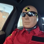 Event for Volvo Cars Holes Bay Poole as Living Human Crash Test Dummy in a car showroom