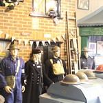 mannequin-man performming as a Museum Dummy: Mannequin man amusing the visitors to the Essex Fire Museum as the World War 2 ARP warden exhibit for Essex Fire Museum on 13/04/2017