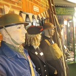 Mannequin man amusing the visitors to the Essex Fire Museum as the World War 2 ARP warden exhibit